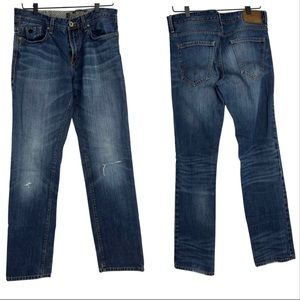 1969 S.Oliver mens distressed straight leg jeans